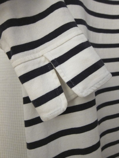 79a9aff005f1 free shipping Muji Dress Whilte Navy Striped Boat-neck 100% Cotton ...