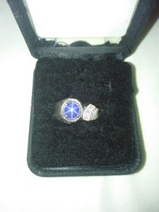 linde blue star sapphire and diamond linde star 14kt white gold