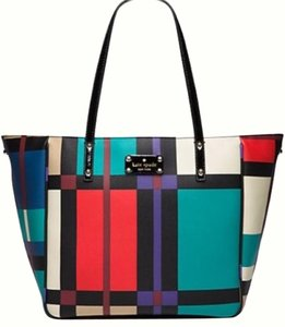 Kate Spade Perry Street Plaid Tote in Multicolor