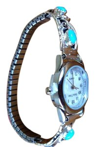 Native American Turquoise Watch Native American Silver & Turquoise Watch