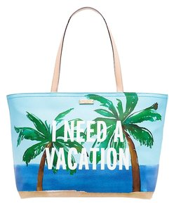 Kate Spade New York Breath Of Fresh Air I Need A Vacation Shoulder Bag