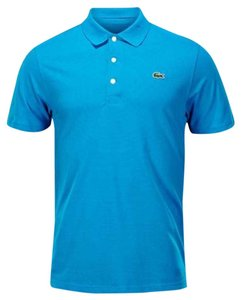 Lacoste Logo Cotton Big&tall Button Down Shirt AQUA BLUE