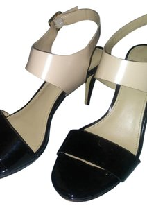 Michael Kors Patent Leather Black/Cream Sandals