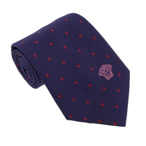 Versace Versace Blue-red Woven Triangle Neat Tie