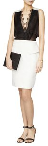 Jason Wu Pencil Leather Skirt White