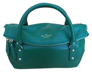 Kate Spade Leather Tote in Emerald Green