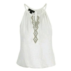 INC International Concepts White Halter Top