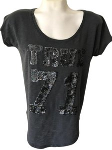 True Religion Shirt T Shirt Black Top Gray, Black