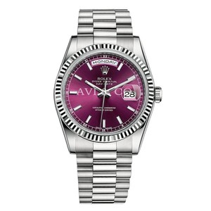 Rolex Rolex Day-Date 36 18K White Gold Watch Cherry Dial 118239