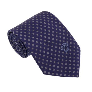 Versace Versace Blue/Silver Woven Dotted Polka Tie