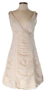 Marc by Marc Jacobs Ruched Scalloped Sleeveless A-line Sweetheart Dress