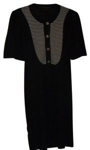 BCBGMAXAZRIA short dress black with white Loose Short Sleeve Light Sweater Stripes On Top Area on Tradesy