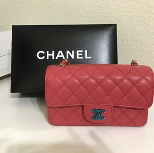 Chanel Mini Flap Ghw Caviar Cross Body Bag