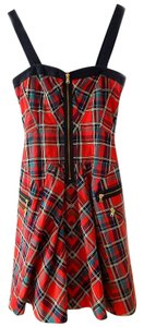 Marc by Marc Jacobs Plaid Tartan Zippers Dress