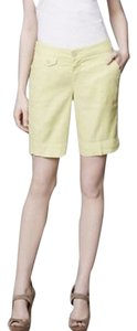 Anthropologie Bermuda Shorts Chartreuse