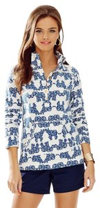 Lilly Pulitzer Popover Captain Popover Pack Your Trunks Elephant Sweater