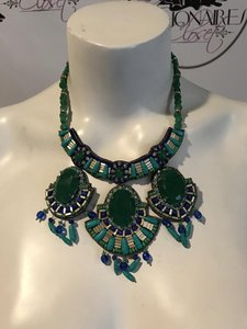 Neiman Marcus SUZANNA DAI 131216 $398 NWT RAJASTHAN GREEN/TURQUOISE HOLIDAY NECKLACE
