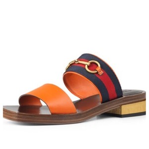 Gucci Slide Bamboo Horse-bit Slide Orange Sandals