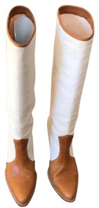 Jean-Michel Cazabat White canvas with tan leather Boots
