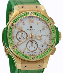 Hublot Hublot Big Bang Green Tutti Frutti 18k Gold Sapphire Watch 341.PG.2010