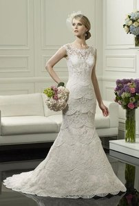 Moonlight Bridal H1249 Timeless Lace Wedding Dress