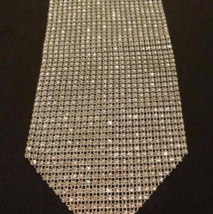 "Silver Rhinestone Style Table Runner 72"" Centerpiece"