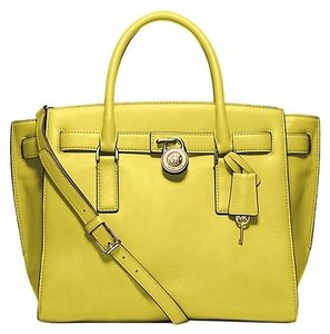 Michael Kors Satchel in Apple Yellow