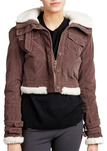 Juicy Couture Sherpa Bomber Brown Jacket