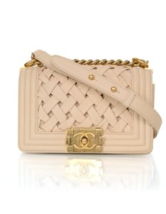 Chanel Boy Woven Classic Shoulder Bag