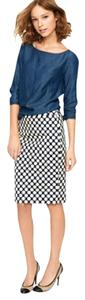 J.Crew Skirt navy and cream