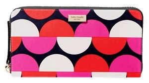 Kate Spade Shore Street Neda Zip Arround Wallet Vivid Snapdragon Color