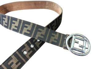 Fendi Brown Zucca canvas Fendi belt
