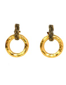 Chanel Chanel Braided Vintage Goldtone Clip-On Earrings