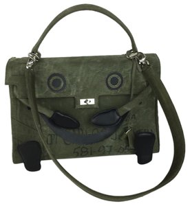 ReadyMade Doll Tote in green