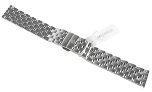 Michele Michele MS18FW235009 18mm Five Link SS Watch Strap Band