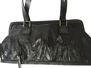 Francesco Biasia Biasia Handbag Biasia Handbag Leaf Design Black Clutch