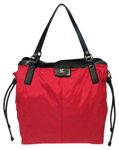Burberry Birch Buckleigh Packable Nylon Tote in Red