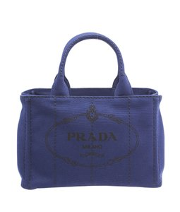 Prada Canvas Tote in Blue