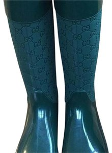 Gucci Green Boots