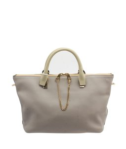 Chloé Chloe Leather Large Tote in Grey
