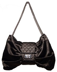 Chanel Satin Evening Satin Bow Shoulder Bag