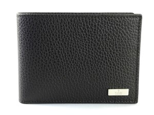 Gucci Brown Pebbled Leather Bifold Wallet