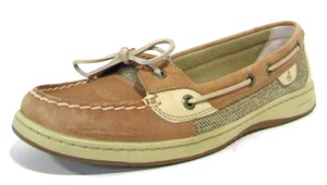 Sperry Leather Anglefish Boat Tan Flats