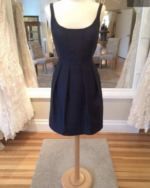 Item - Navy Luxe Shantung Justine Formal Bridesmaid/Mob Dress Size 8 (M)