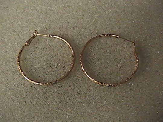 Unknown Gold Filled Huge Hoop Earrings Image 1