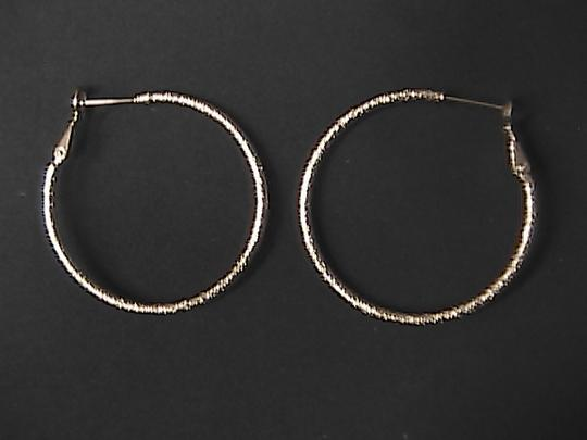 Unknown Gold Filled Huge Hoop Earrings
