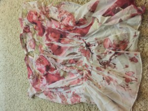 Forever 21 Top Pink and white silky like floral