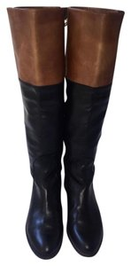 Stuart Weitzman Leather Black Black, brown Boots