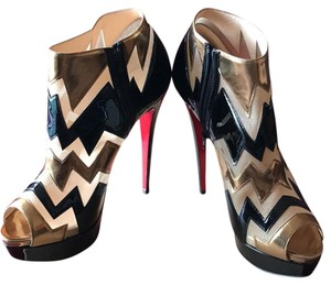 Christian Louboutin Bronze/Black Platforms