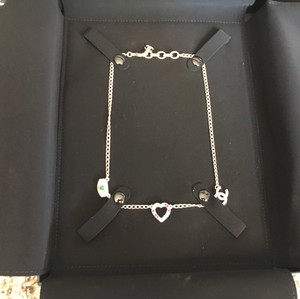 Chanel BINB Authentic Chanel Pink Heart CC Green Eye Crystal Necklace SoldOut